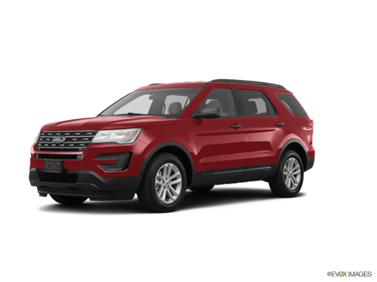 2017 Ford Explorer in Ruby Red Metallic Tinted Clearcoat