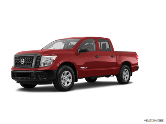 red Nissan Titan pickup truck
