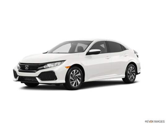 2017 Honda Civic Hatchback in White Orchid Pearl