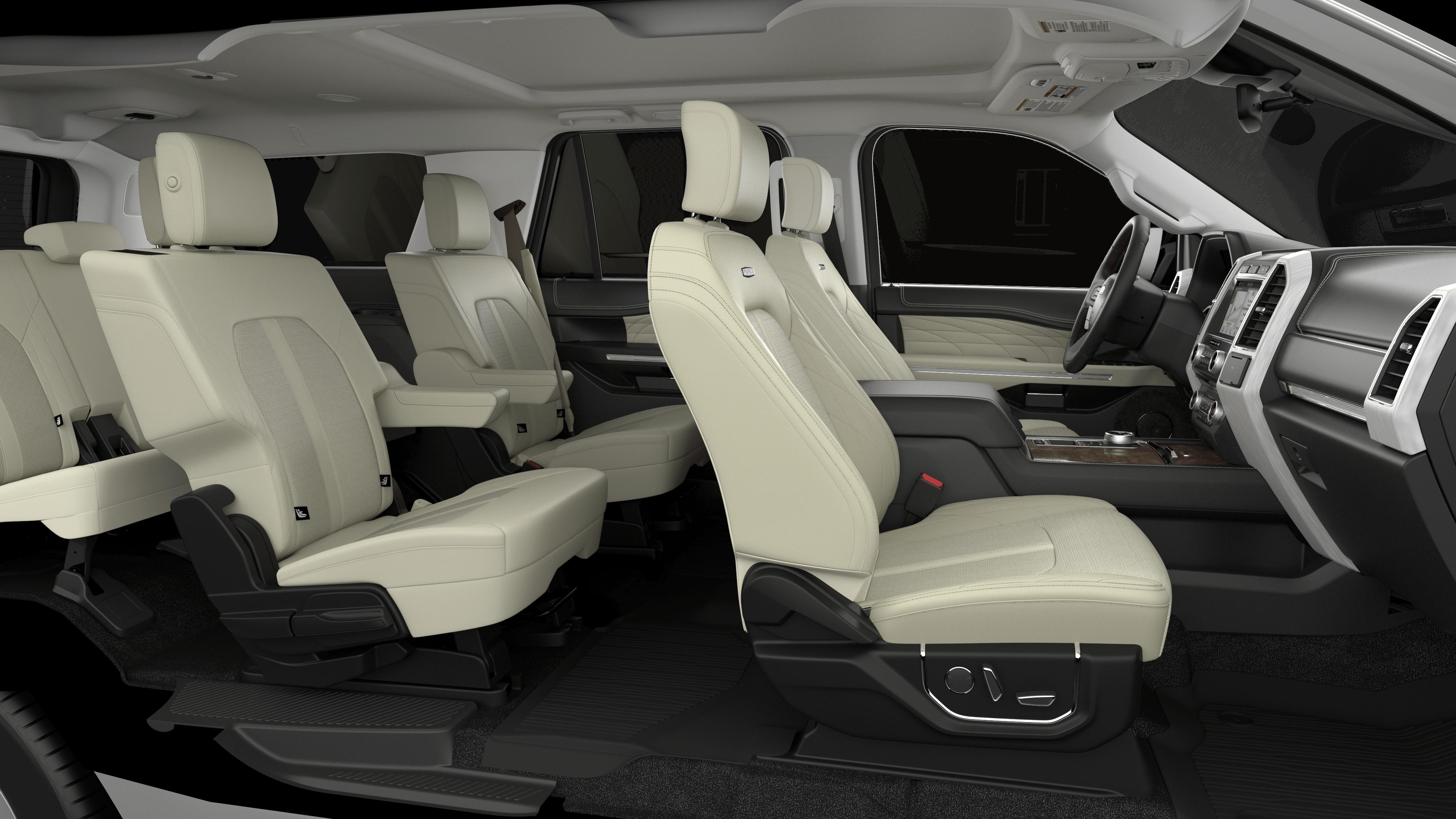 White Platinum Metallic Tri Coat 2019 Ford Expedition Max