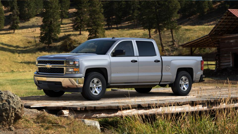 used silver ice metallic 2014 chevrolet silverado 1500 crew cab standard box 2 wheel drive lt w. Black Bedroom Furniture Sets. Home Design Ideas