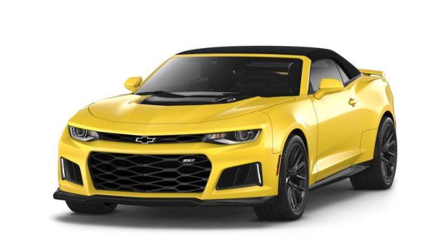 New Bright Yellow 2018 Chevrolet Camaro 2dr Conv Zl1 For Sale