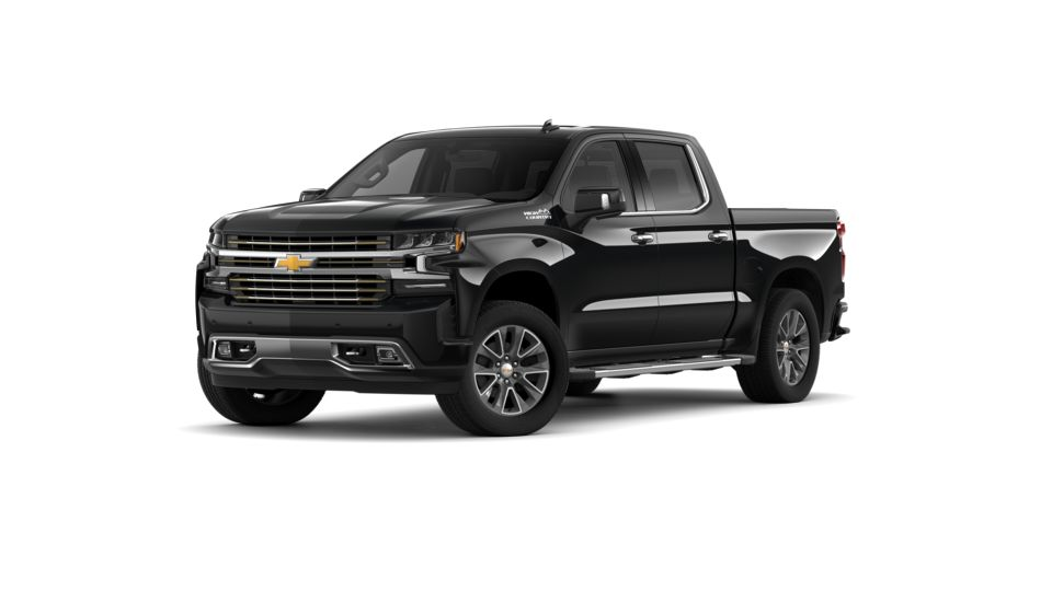 New 2019 Chevrolet Silverado 1500 Crew Cab Short Box 4-Wheel Drive High Country black exterior jet