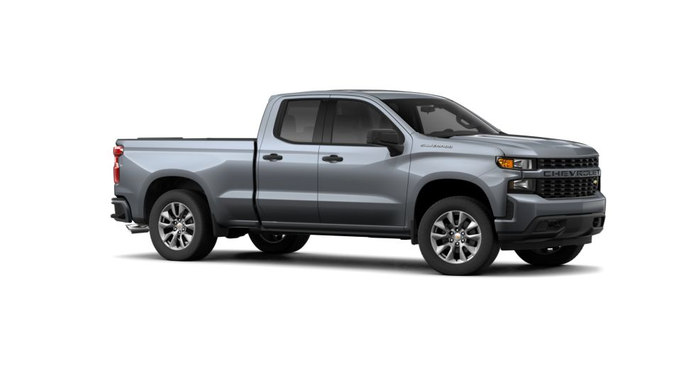 new satin steel metallic 2019 chevrolet silverado 1500 double cab standard box 2 wheel drive. Black Bedroom Furniture Sets. Home Design Ideas