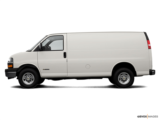 Certified 2006 Chevrolet Express Cargo Van 2500 135 WB RWD silver birch metallic exterior medium