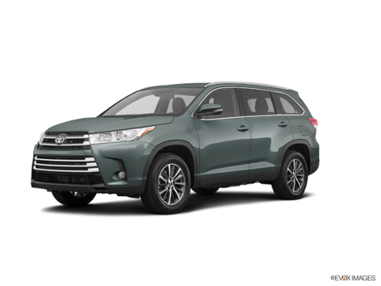 2019 Toyota Highlander In Alumina Jade Metallic